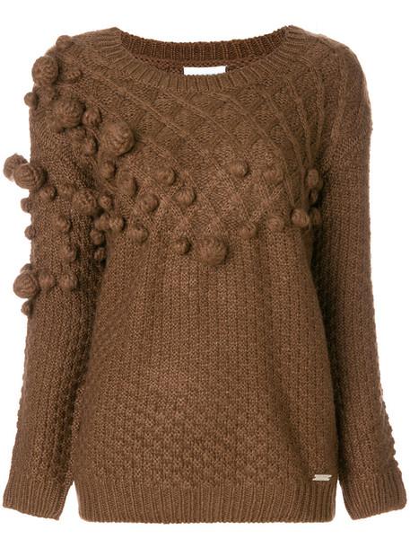 Jovonna jumper women wool brown sweater