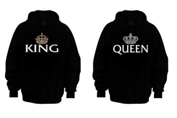 bag top sweater black sweater king queen matching couples couple sweaters couple cute