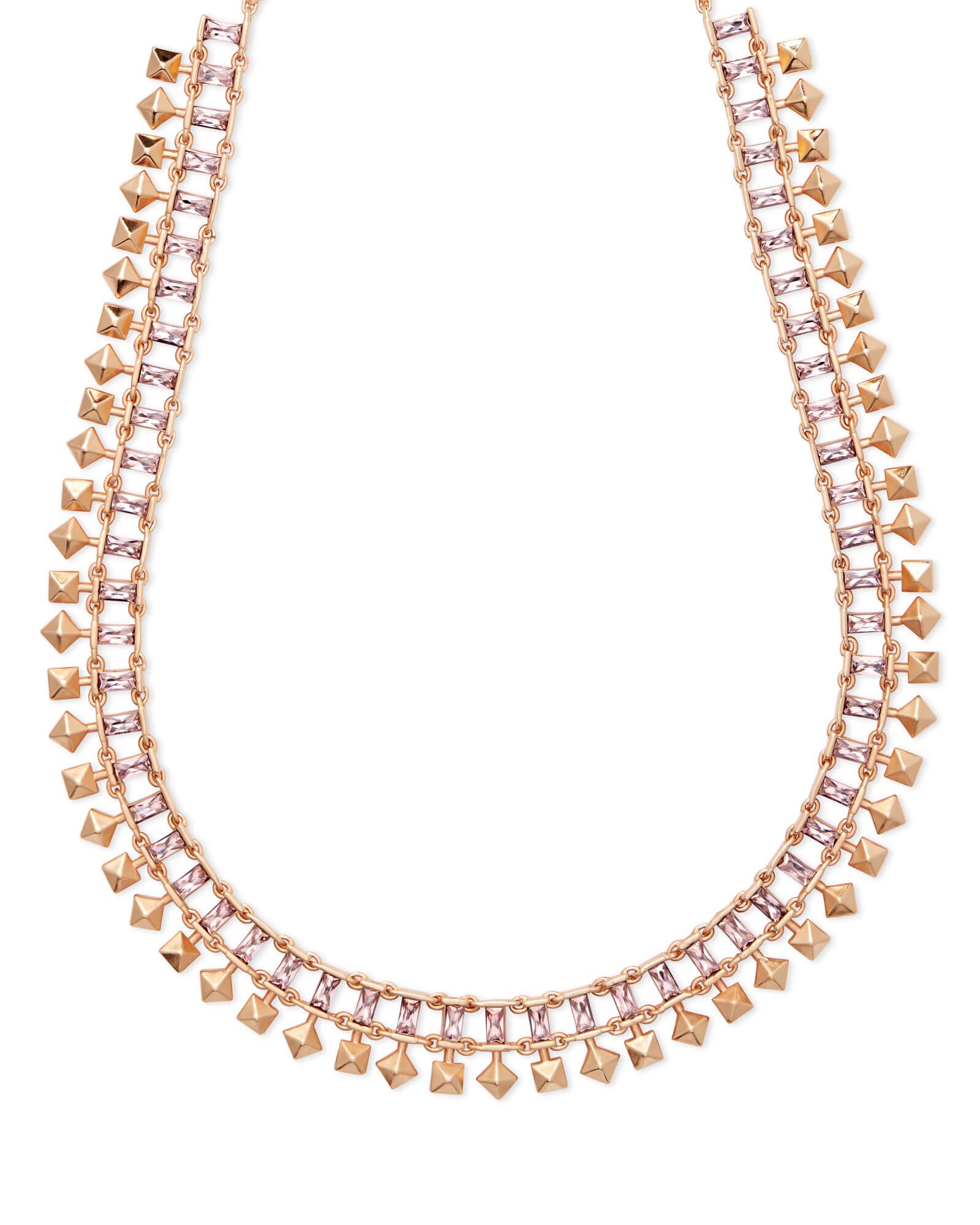 Oscar Rose Gold Choker Necklace in Blush Crystal | Kendra Scott