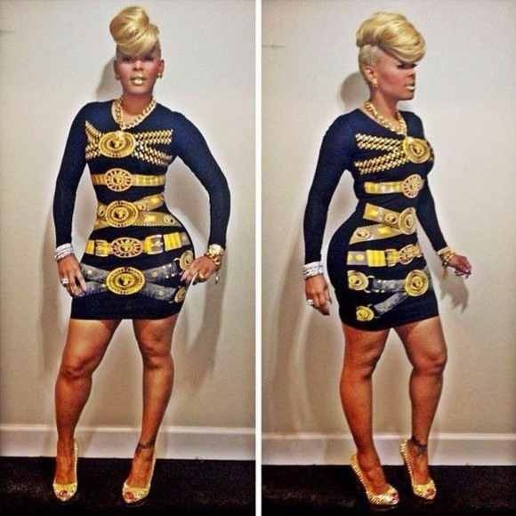 dress versace designer fashion bloggers bodycon cecebtq clothes shoo shop high heels beautt beauty celebrity dresses nicki minaj nicki minaj, leggings, bodysuit clothes: wedding beauty fashion shopping beyonce