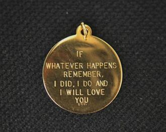 bracelets charm gold quote on it love love quotes valentines day gift idea jewels necklace jewelry engraved message chain if whatever happens friend friendship pendant