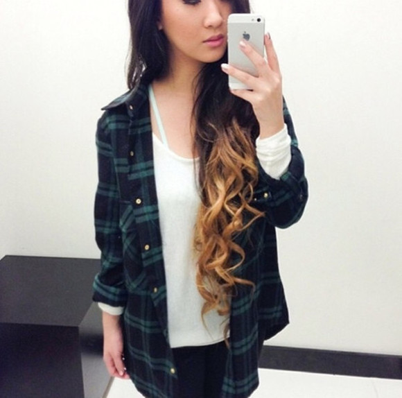 flannel shirt jacket flannel tumblr clothes