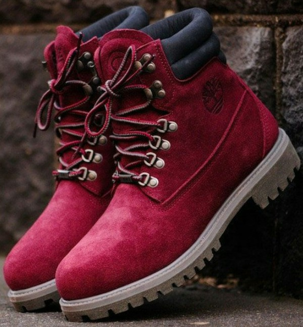Shoes: timberlands, burgundy, womens shoes, timberland ...