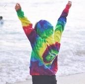 jacket,pink,veste,colorful,girl,multicolor,red dress,tie dye shirt,tie dye,sweater,tie dye sweater,colourful sweater,hippie,pull,carter reynolds