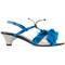 Marni - llama fur trim sandals - women - calf leather/leather/lama fur - 38, blue, calf leather/leather/lama fur