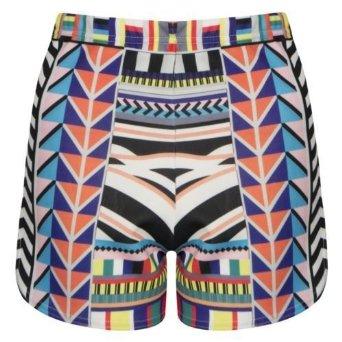 Femme Jennifer Lopez Tribales Pantalons Aztèque Taille Haute Couleur Multi Hot Shorts (Couleur Multi, 36-38): Amazon.fr: Vêtements et accessoires