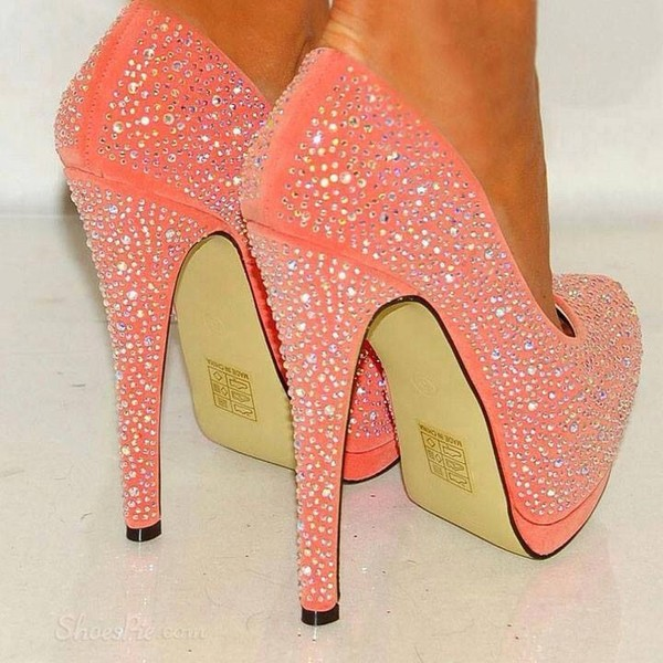 55abe71cfbc shoes sparkle coral heels pink high heels brillant pinterest sparkle pink  prom shoes orange sequins.