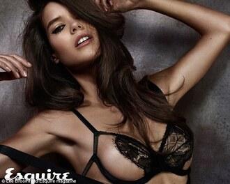 underwear clothes bra black celebrity model