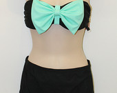 Bows Bandeau Scrunched Bottom Bikini by SunkissedCollection