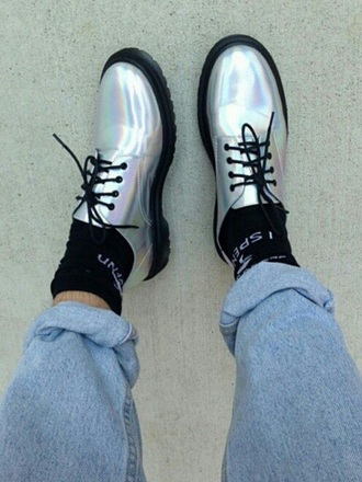 shoes metalic shoes metallic grunge t-shirt