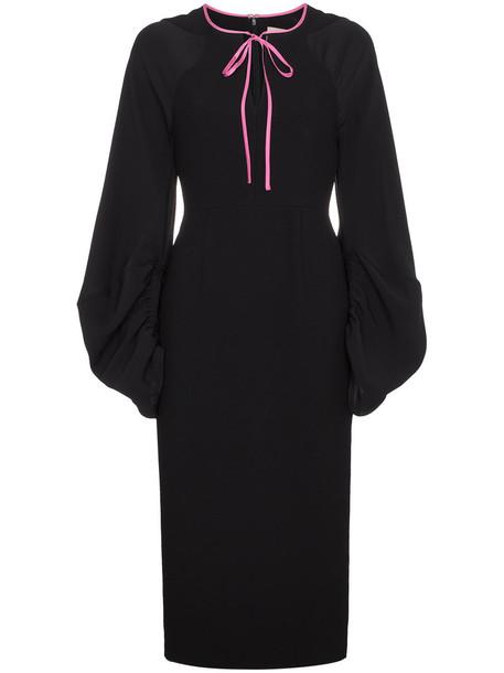 Roksanda dress midi dress women midi black silk