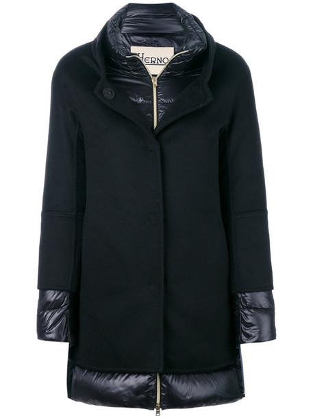 Herno coat women layered black