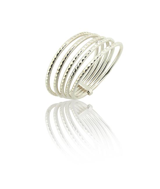 Diamond Cut Ring | Silver Ring | Silver Jewellery | Stack Rings | BOHEM