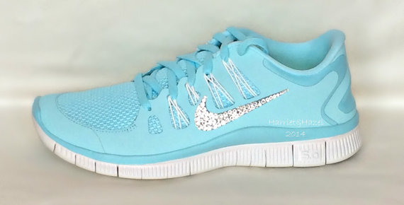 ... nike free run 5.0 shoes glacier ice/night by harriethazeldesigns