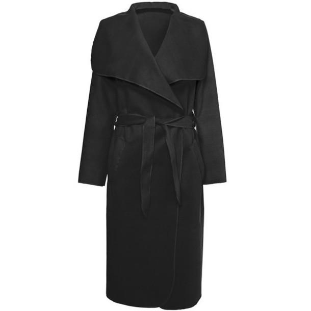 coat black long coat