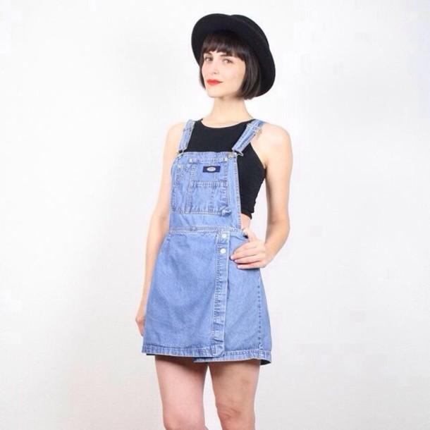 Denim Overalls Skirt 120