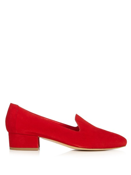 Mansur Gavriel loafers suede red shoes