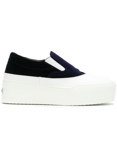 Miu Miu women sneakers leather white velvet shoes