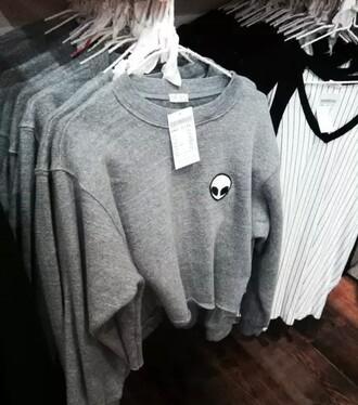 shirt sweater alien grunge cute top