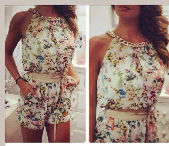 summer outfits floral dress Belt jewels floral shorts style top denim shorts skinny classy t-shirt white dress white crop tops romper jumpsuit sexy dress white bodycon dress floral tank top