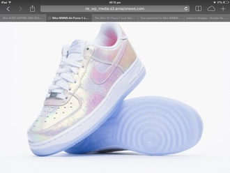 shoes parful nike air uk blogger metallic great i need these so bad nike air force 1 shiny