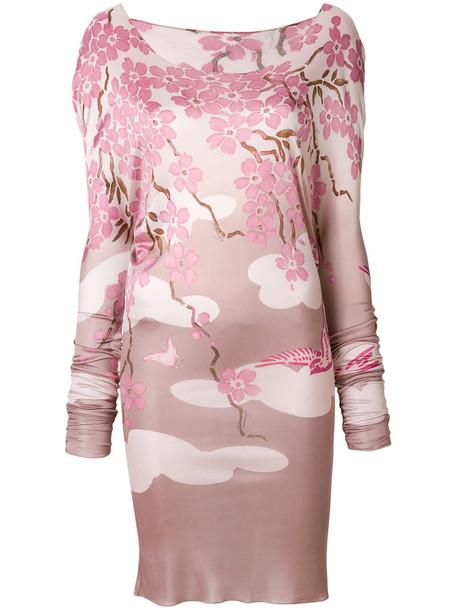 Gucci Vintage dress women chinese purple pink