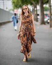 sunglasses,yellow sunglasses,dress,long dress,shoes