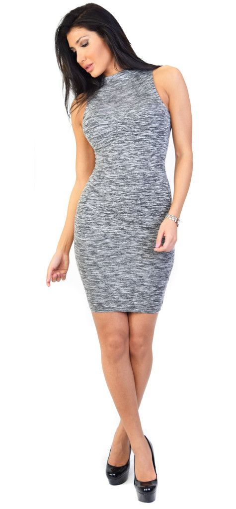 Verona hourglass grey dress