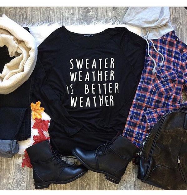 sweater graphic tee black sweater