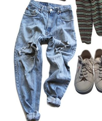 jeans blue jeans tumblr aesthetic denim ripped jeans 90s style 80s style 70s style