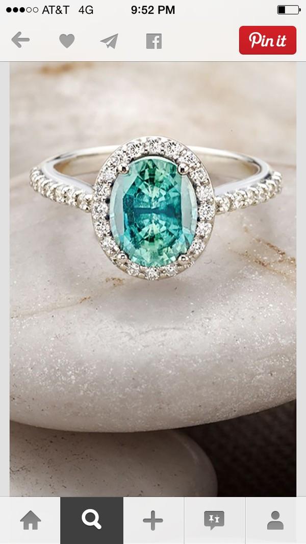 jewels ring diamonds diamond ring turqoise turquoise turquoise jewelry turquoise ring pretty pretty ring beautiful beautiful ring