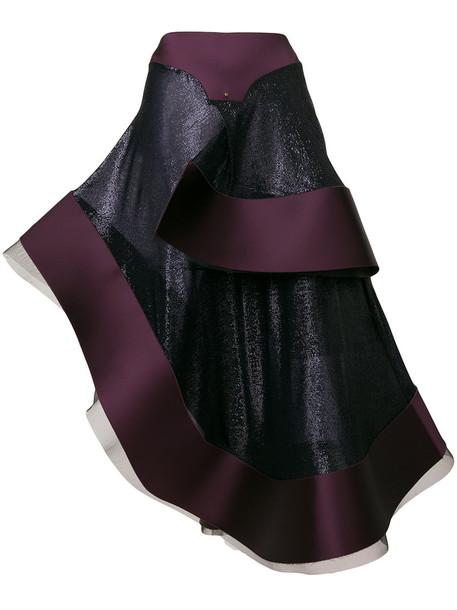Esteban Cortazar skirt women spandex purple pink