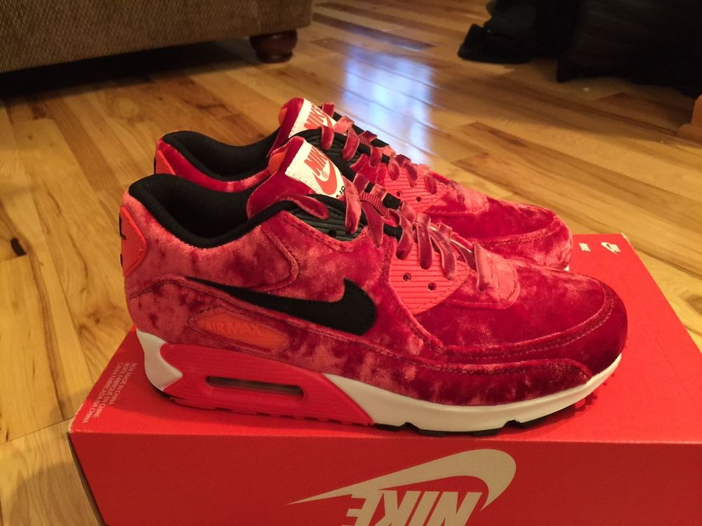 cheap for discount 3459b fbee6 Women's Nike Air Max 90 Anniversary Red Velvet 726485 600 Size 6.5 DS WMNS