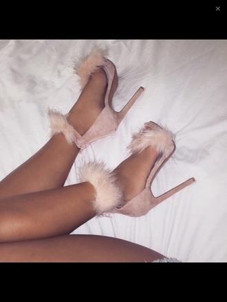 shoes high heels cute dress beige