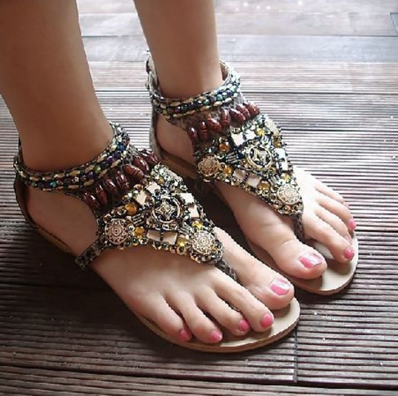 shoes sandal black fashion