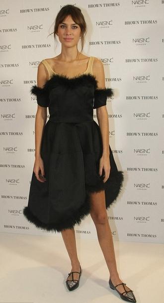 dress fur alexa chung midi dress