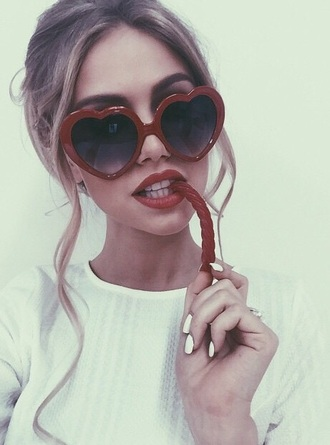 sunglasses heart sunglasses tumblr girl grunge heart