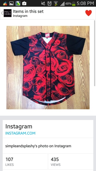 shirt rose jersy