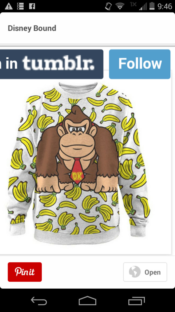 donkey kong video game bananas sweatshirt