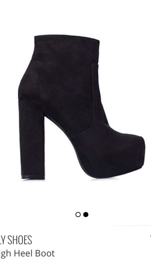high heels heels boots black suede