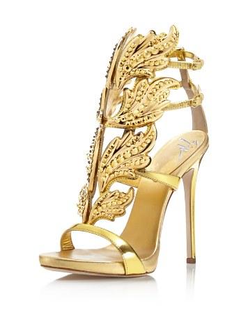 1cdd55bf484 Giuseppe Zanotti Coline Cruel Embellished Wing High Heel Sandals ...