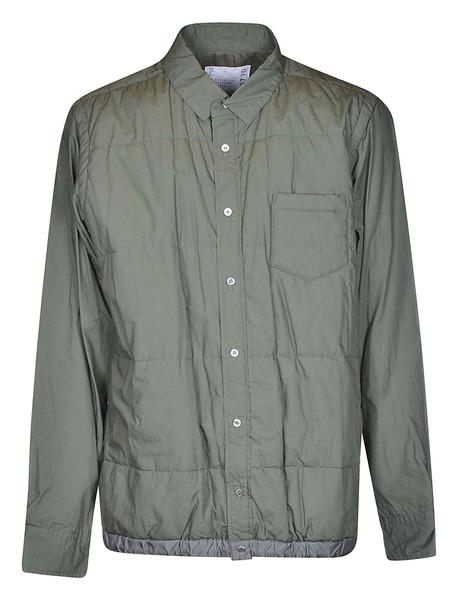 Sacai Drawstring Shirt Jacket in green
