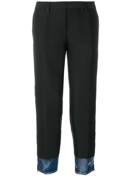 Dsquared2 women cotton black silk wool pants