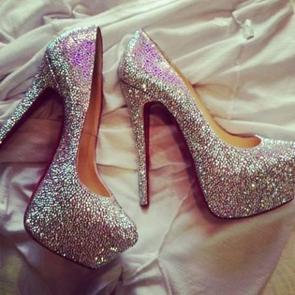 rhinestone shoes high heels party fashion wedding pumps silver heels hot sexy girl jullnard silver high heels