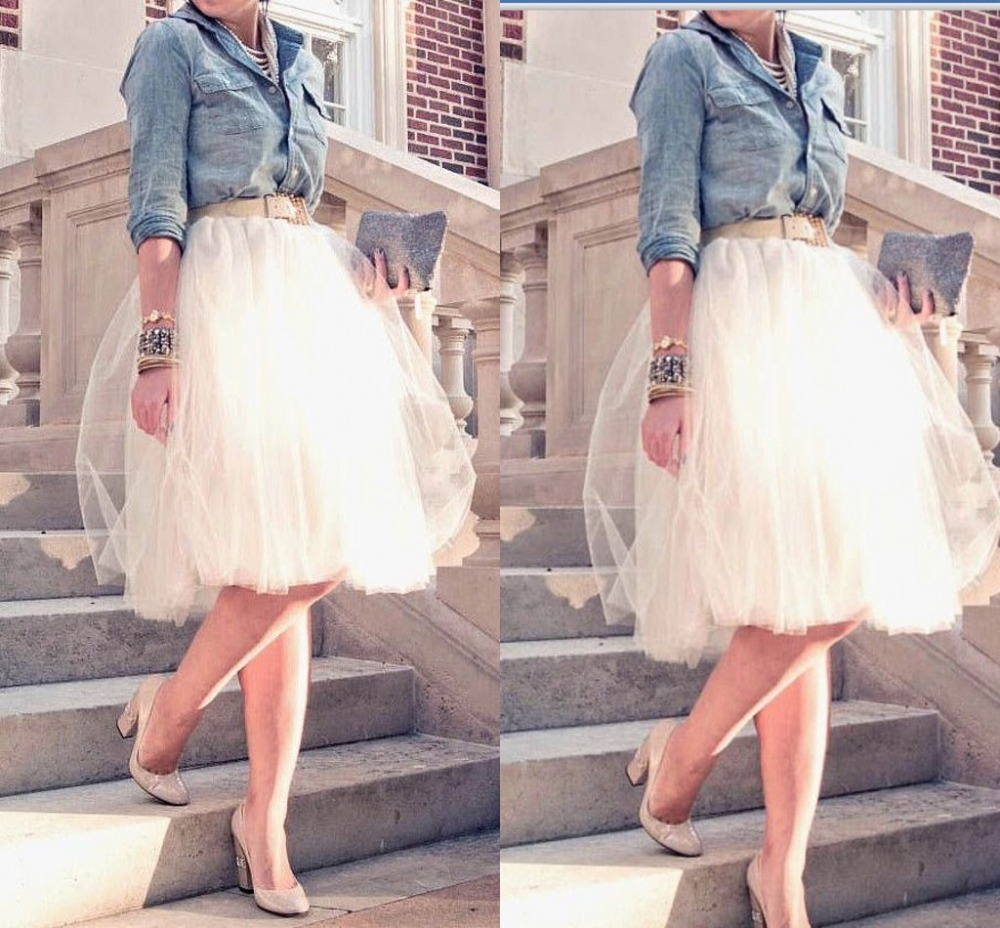 Aliexpress Buy Womens Sheer Short Tulle Skirt Princess Fairy Style Fashion Sash Knee Length Tutu Casual Solid Saia Longa 2015 From Reliable