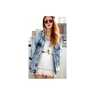denim jacket oversized light wash vintage