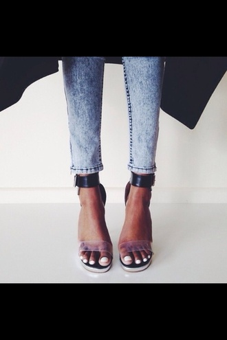 shoes high heels cute high heels black  high heels transparent transparent shoes ankle strap heels sandals straps