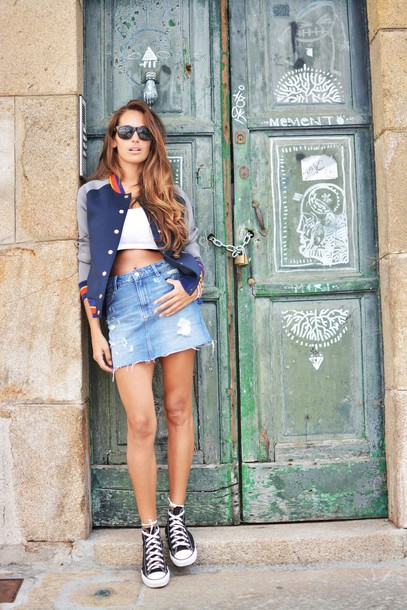 stella wants to die blogger jacket skirt top