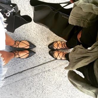 shoes flats black flats strappy flats