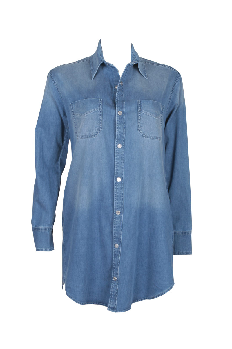 Shirt dress in blue: buy black orchid at couturecandy.com